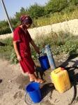 Drinking water tap stand in Batken